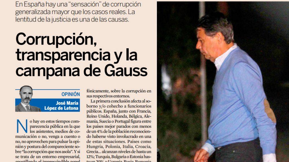 Corrupción, transparecnia y la campana de Gauss